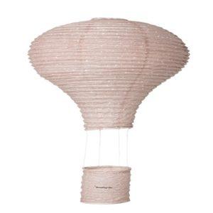 Hőlégballonnal a távolba – pink függődísz