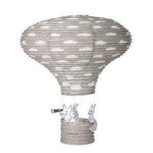Hőlégballonnal a távolba – szürke függődísz