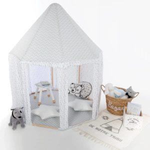 szürke gyerek jurta sátor gyerekszobába