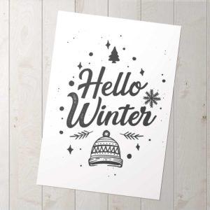 hello winter poszter